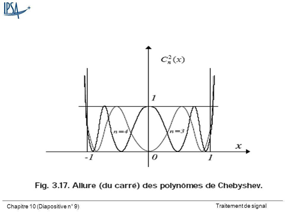 Traitement de signal Chapitre 10 (Diapositive n° 10) Ordre