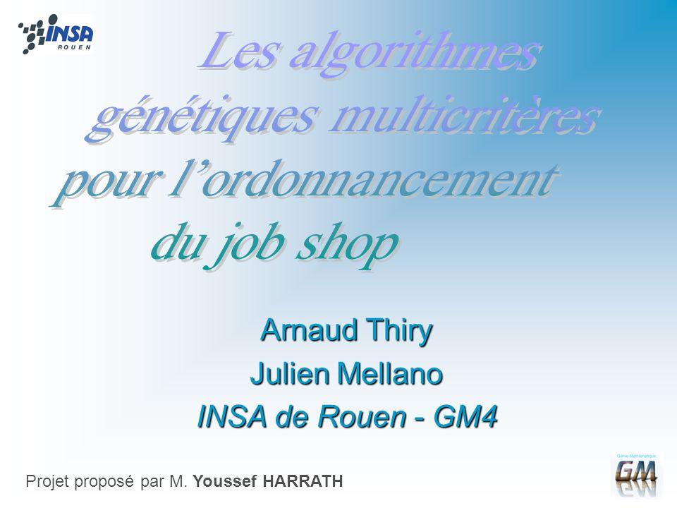 Arnaud Thiry Julien Mellano INSA de Rouen - GM4 Projet proposé par M. Youssef HARRATH