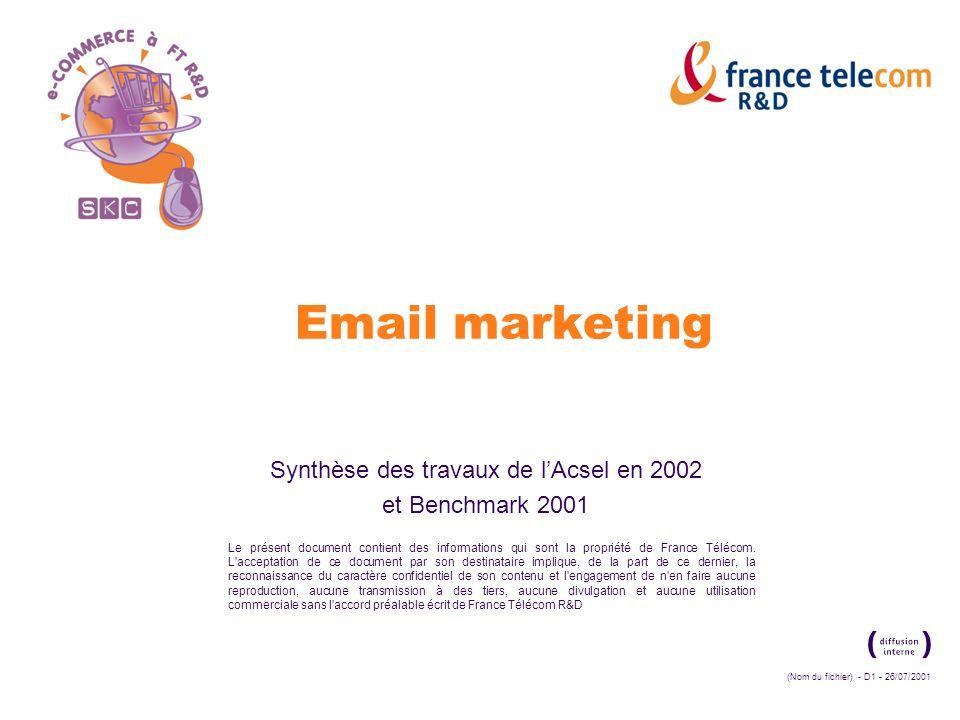 (Nom du fichier) - D1 - 26/07/2001 Le présent document contient des informations qui sont la propriété de France Télécom.
