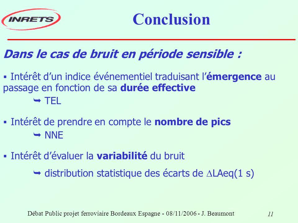 Débat Public projet ferroviaire Bordeaux Espagne - 08/11/2006 - J.