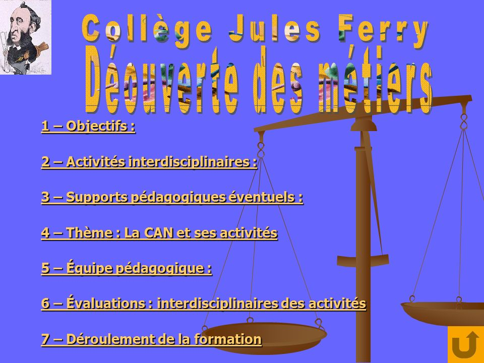 1 – Objectifs : 1 – Objectifs : 2 – Activités interdisciplinaires : 2 – Activités interdisciplinaires : 3 – Supports pédagogiques éventuels : 3 – Supp