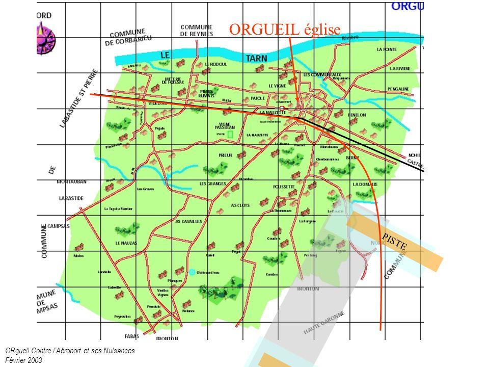 ORgueil Contre lAéroport et ses Nuisances Février 2003 PISTE ORGUEIL église