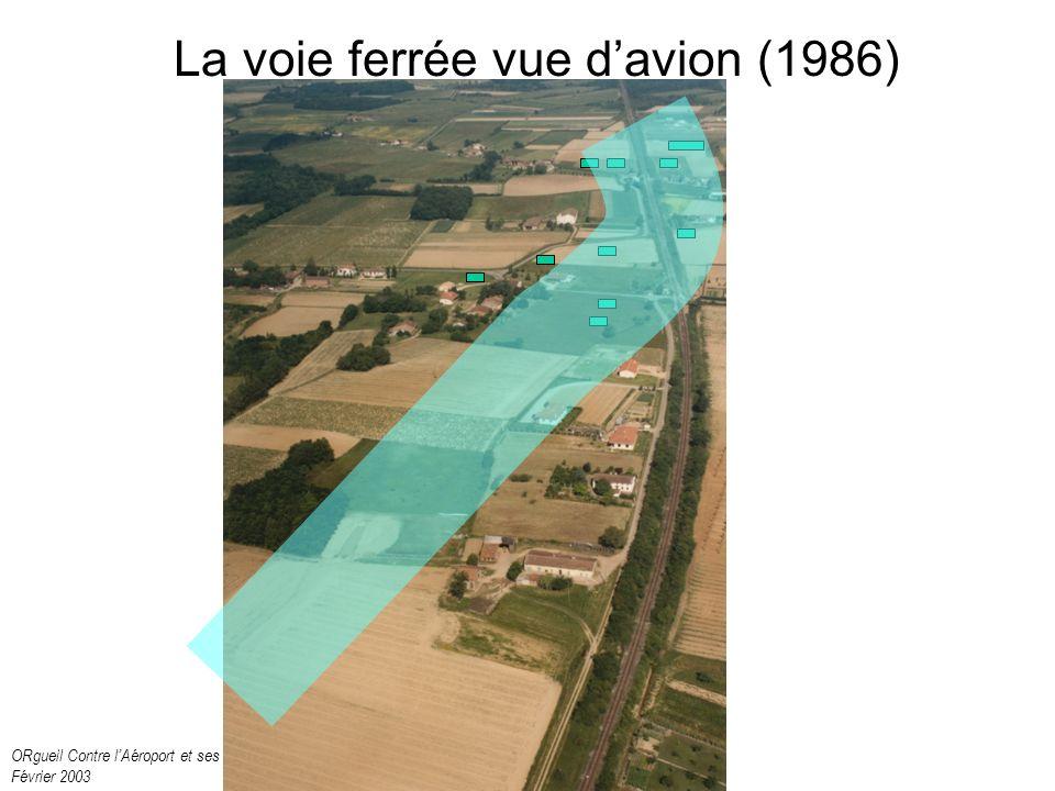 ORgueil Contre lAéroport et ses Nuisances Février 2003 La voie ferrée vue davion (1986)