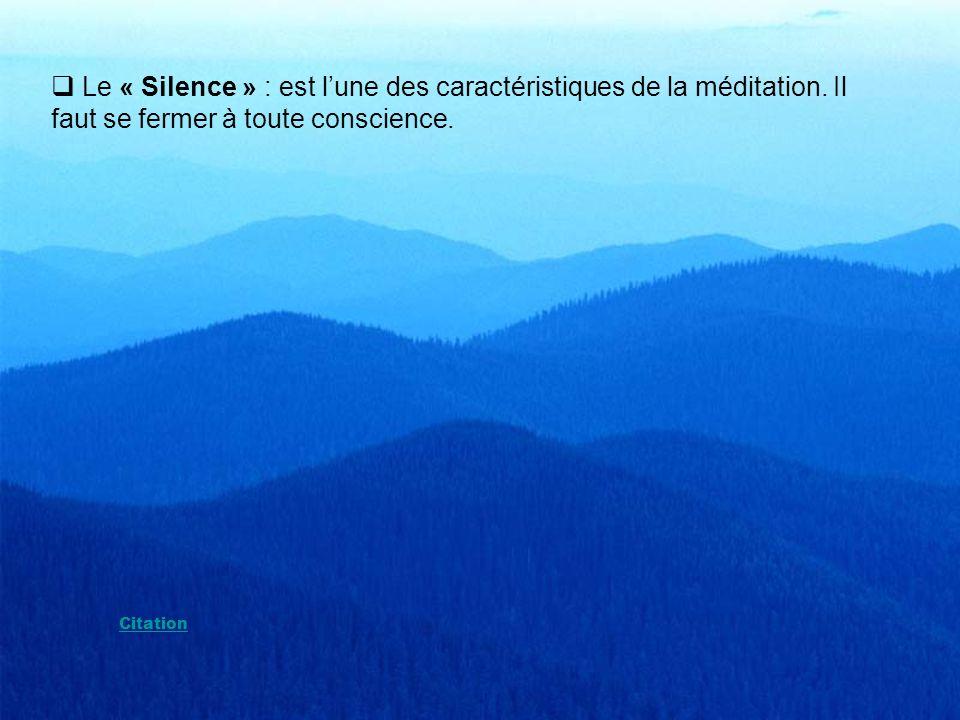 La « Méditation » pour Krishnamurti est un processus dharmonie parfaite durant lequel toute dissociation, toute pensée est bannie. Lindividu observe c