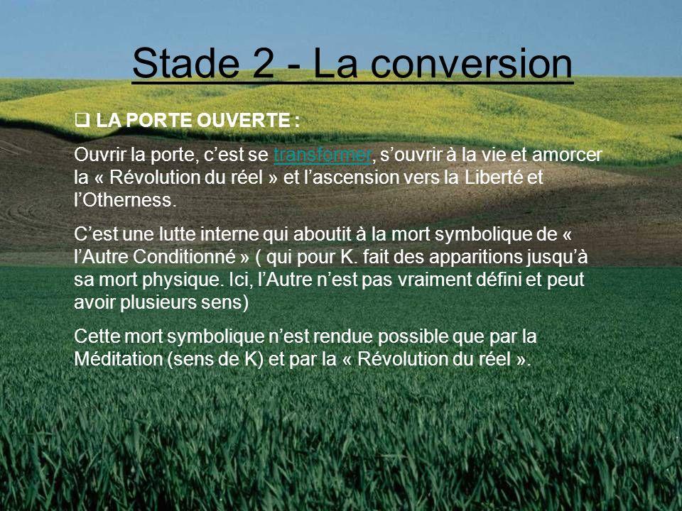 Liberté de soi « Otherness » 1 = tous = 1 Amour Vérité, Sérénité, « Reliance » Stade 3 : La Liberté