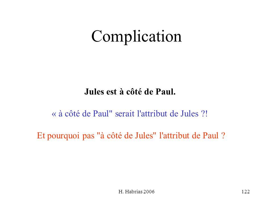 H. Habrias 2006122 Complication Jules est à côté de Paul. « à côté de Paul