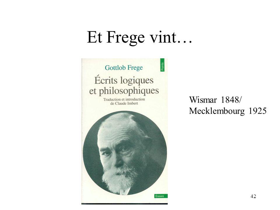 H. Habrias 200642 Et Frege vint… Wismar 1848/ Mecklembourg 1925