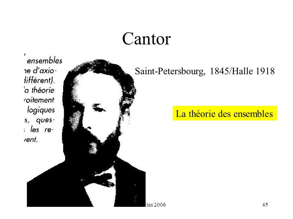 H. Habrias 200645 Cantor La théorie des ensembles Saint-Petersbourg, 1845/Halle 1918