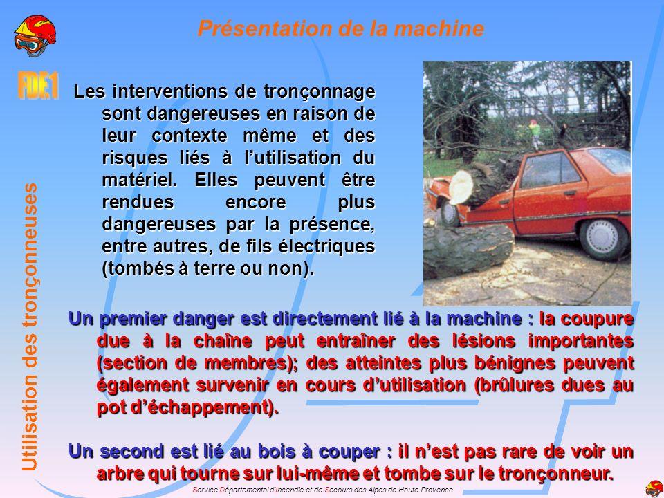 Service Départemental dIncendie et de Secours des Alpes de Haute Provence Présentation de la machine Elles comportent les parties principales suivante
