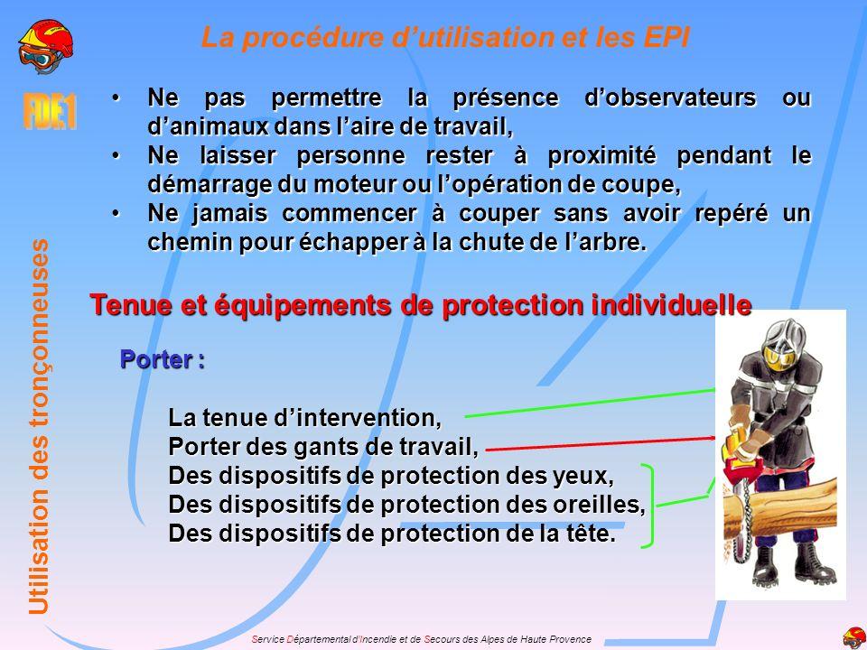 Service Départemental dIncendie et de Secours des Alpes de Haute Provence La sécurité de laire de travail Balisage du chantier et périmètre de sécurit