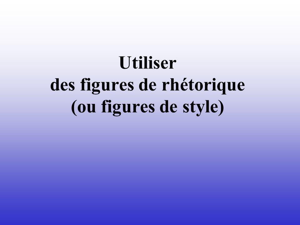 Utiliser des figures de rhétorique (ou figures de style)