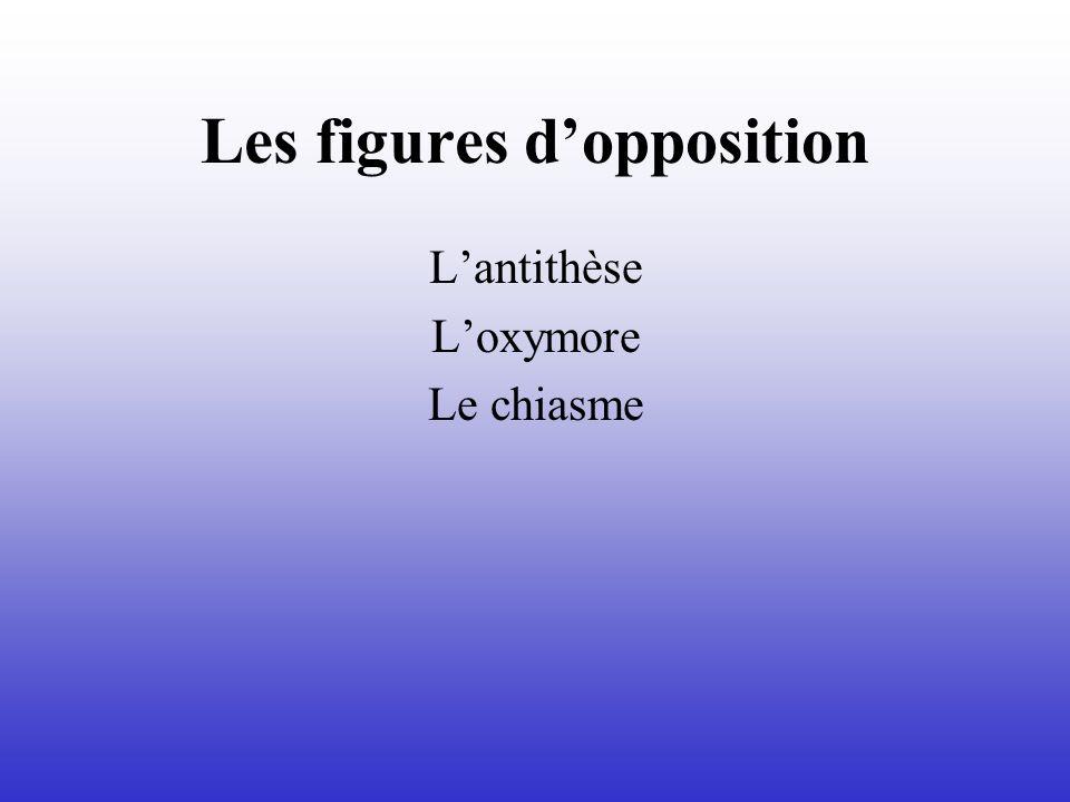 Les figures dopposition Lantithèse Loxymore Le chiasme