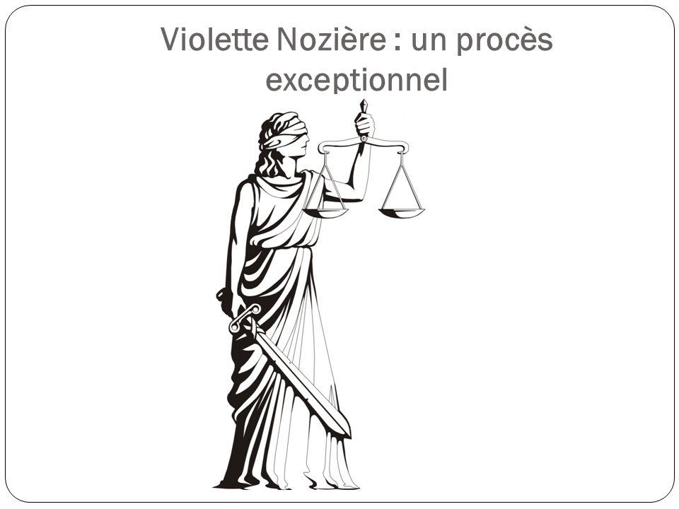 Les faits Linstruction Le procès Après le procès Les débats autour de laffaire Laffaire Violette Nozière