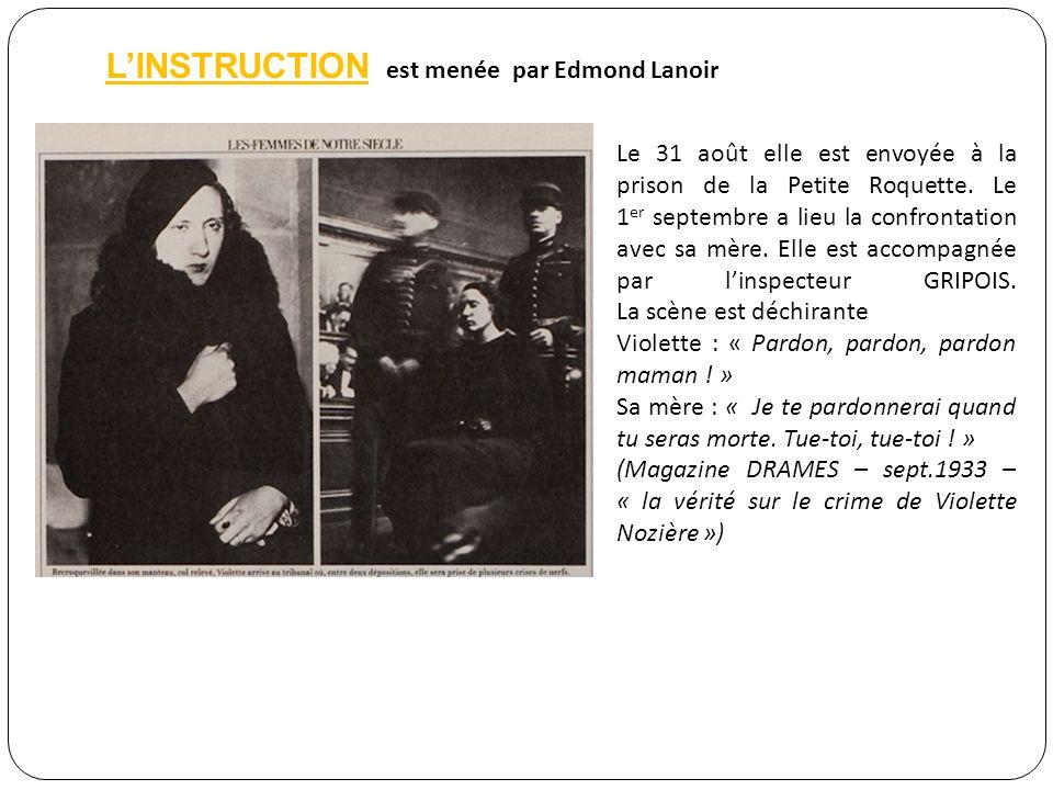 Un crime passionnel Pour Violette, Jean Dabin, pour qui elle vole ses parents, nest pas une aventure, mais une histoire damour.