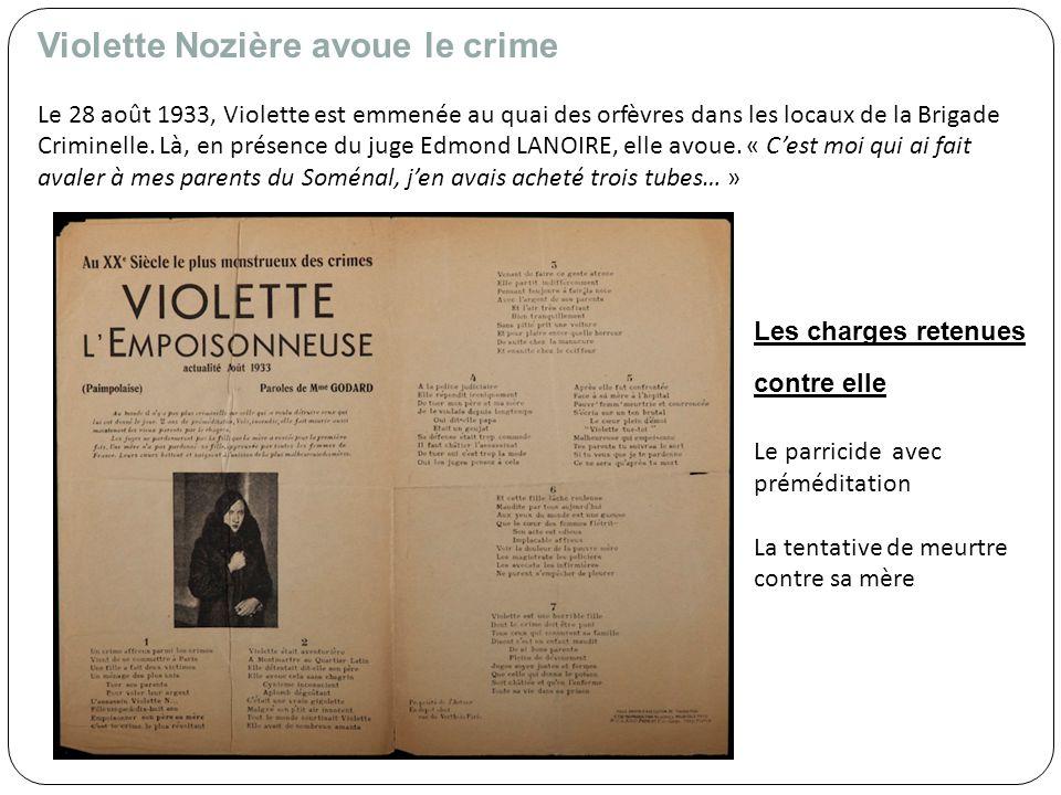 Les avocats Cest au dépôt que Violette Nozière fait connaissance avec ses deux avocats, Maître Henry GERAUD et Maître de VESINNE – LARUE.