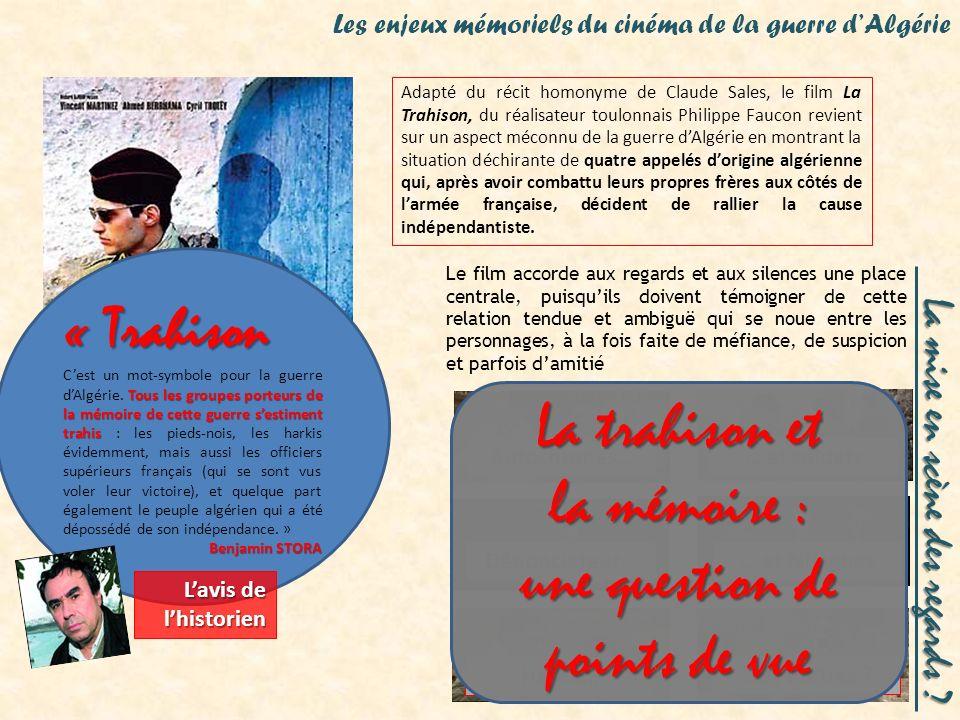 La Trahison La Trahison, de Philippe Faucon (2005) Adapté du récit homonyme de Claude Sales, le film La Trahison, du réalisateur toulonnais Philippe F