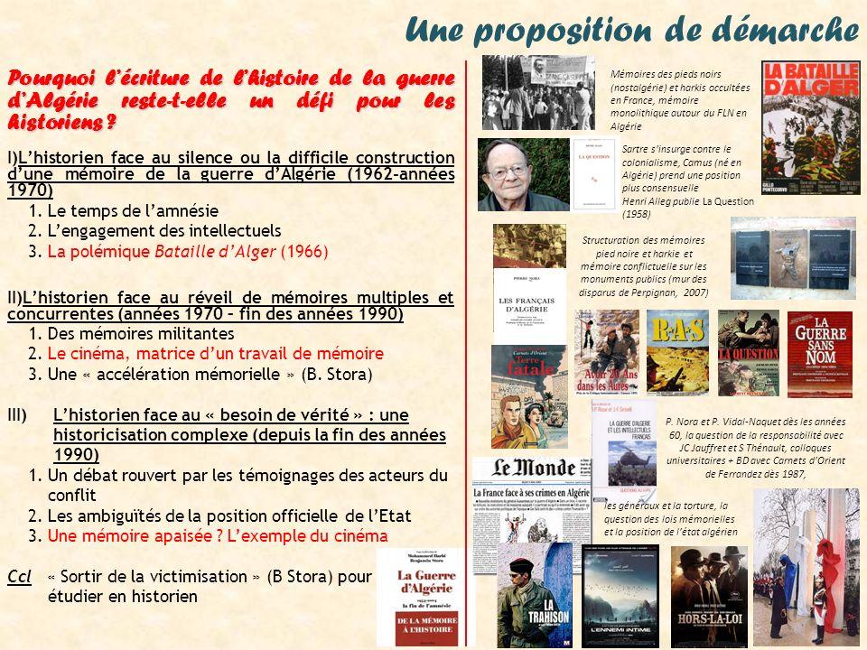 Les enjeux mémoriels du cinéma de la guerre dAlgérie Hors la loi, de Rachid Bouchareb (2010) À l issue de la Seconde Guerre mondiale sur le front de l Ouest, les manifestations pour l indépendance de l Algérie deviennent de plus en plus fréquentes en Algérie française jusqu aux massacres de Sétif et Guelma, dans le département de Constantine, le 8 mai 1945.