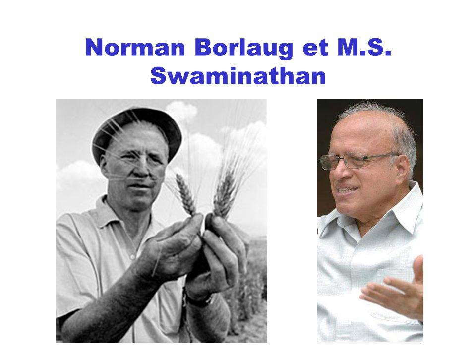 Norman Borlaug et M.S. Swaminathan