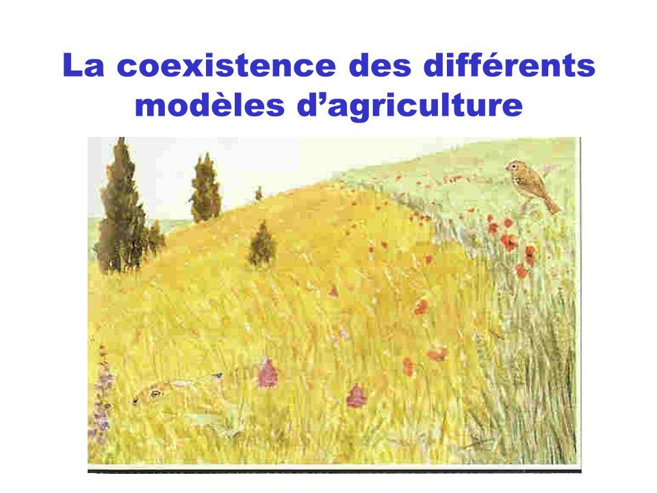La coexistence des différents modèles dagriculture