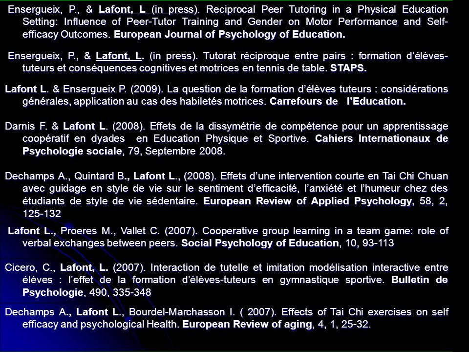Ensergueix, P.& Lafont L. (2007).