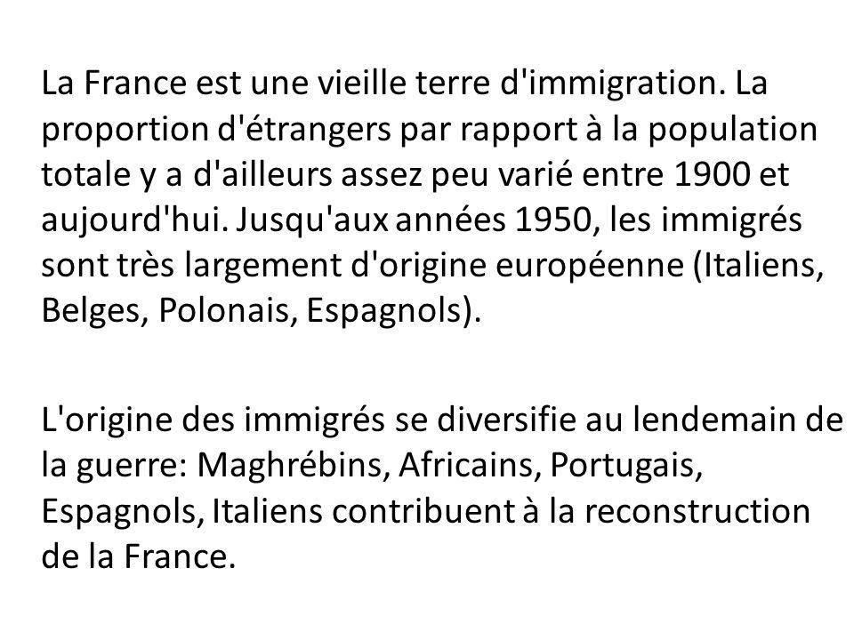 La France est une vieille terre d immigration.