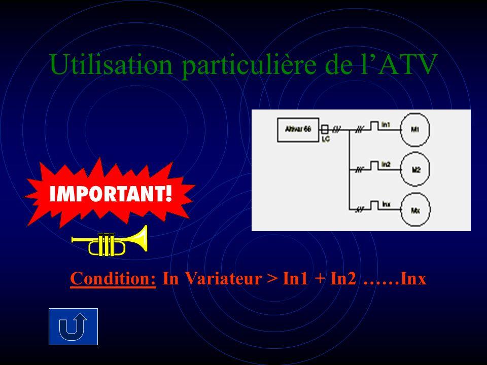 Utilisation particulière de lATV Condition: In Variateur > In1 + In2 ……Inx