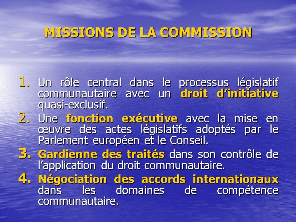 MISSIONS DE LA COMMISSION 1.