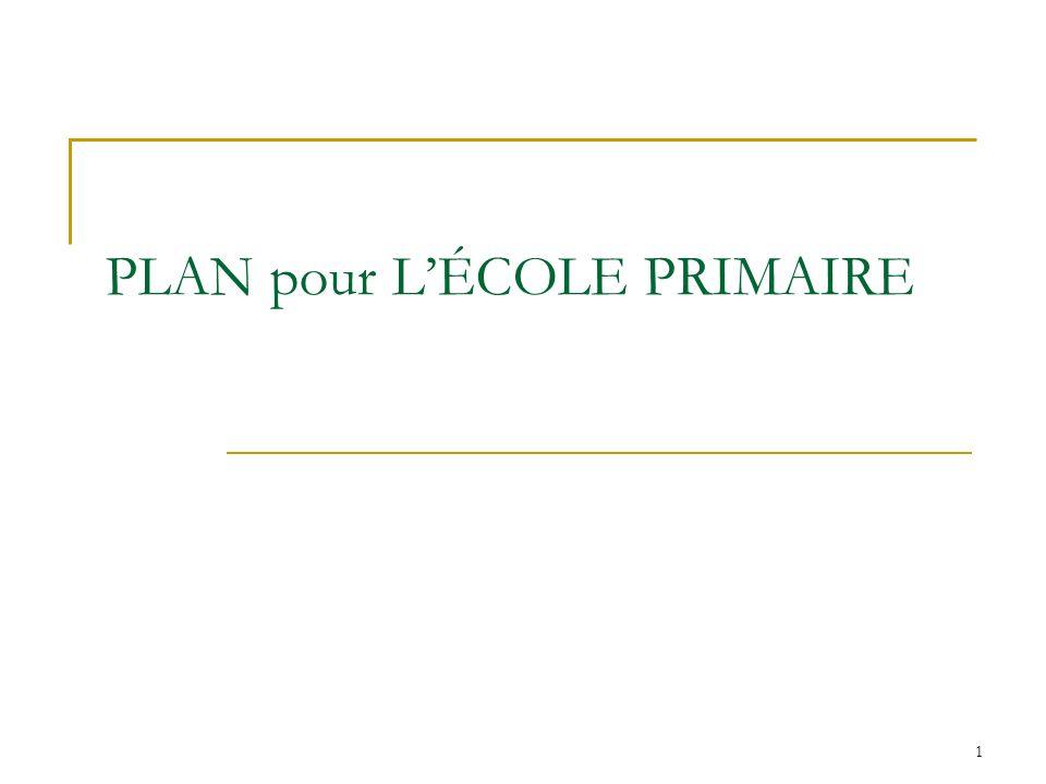 1 PLAN pour LÉCOLE PRIMAIRE