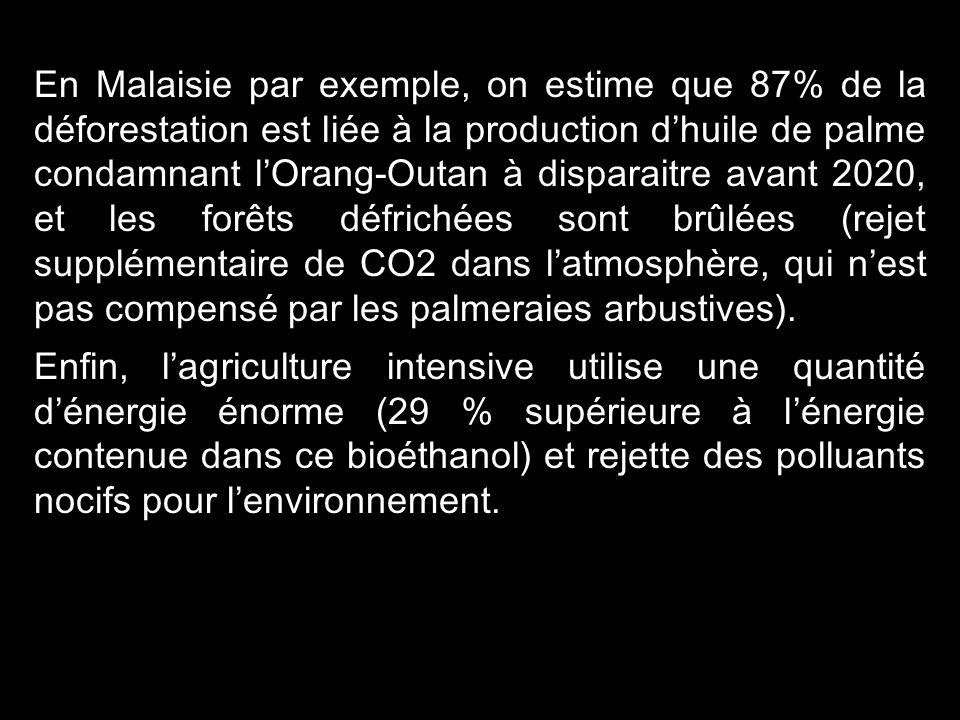 14 Les biocarburants ne peuvent pas être considérés comme une solution à long terme. Leur développement restera probablement limité. six fois En effet