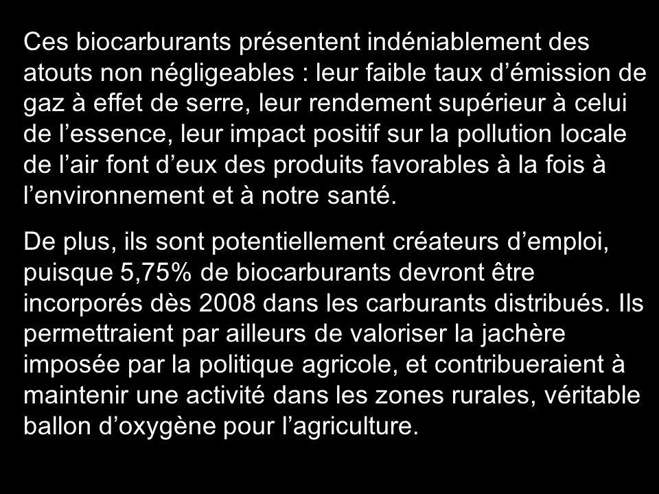 2 En France, le gouvernement prévoit dintroduire un plus grand pourcentage dhuile de colza et de tournesol dans le carburant noir. De plus, 500 pompes
