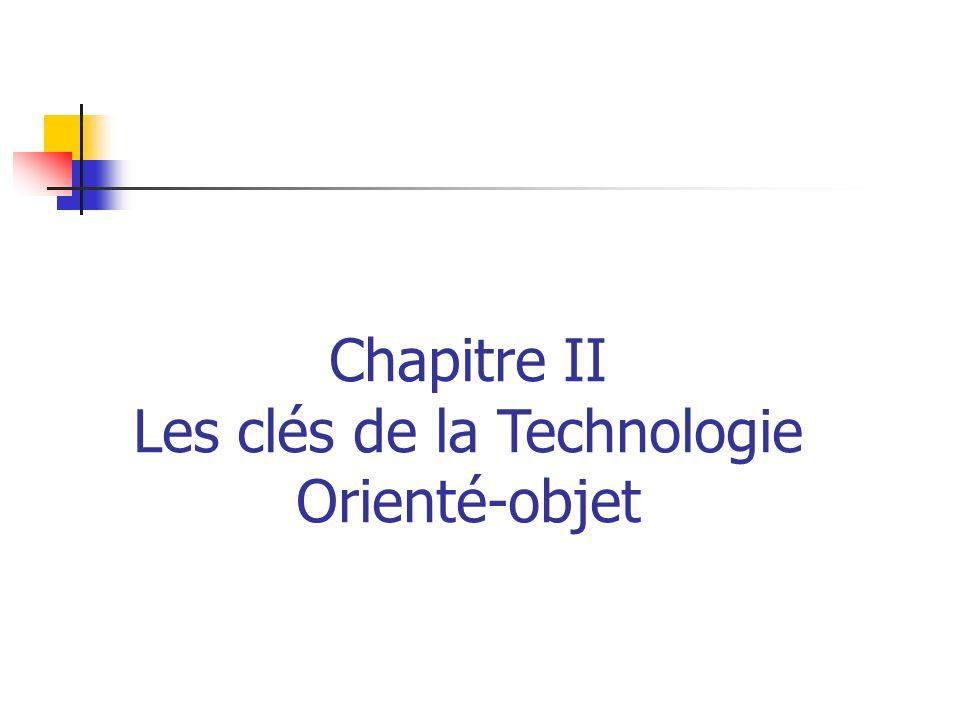 Chapitre II Les clés de la Technologie Orienté-objet