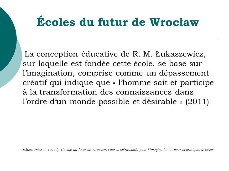 Écoles du futur de Wrocław La conception éducative de R. M. Łukaszewicz, sur laquelle est fondée cette école, se base sur limagination, comprise comme