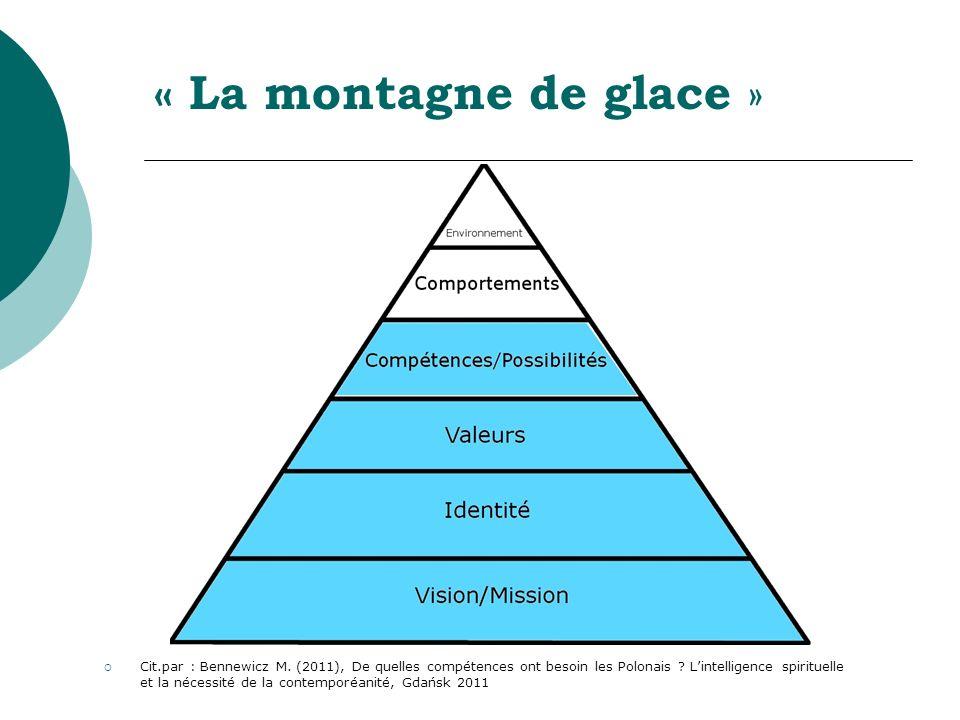 « La montagne de glace » Cit.par : Bennewicz M. (2011), De quelles compétences ont besoin les Polonais ? Lintelligence spirituelle et la nécessité de