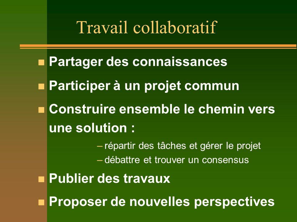 Évolution des tâches de l'enseignant n travail coopératif / collaboratif entre enseignants –vaincre lisolement –mutualiser les efforts –construire des