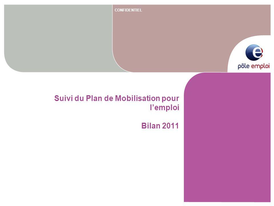 CONFIDENTIEL Suivi du Plan de Mobilisation pour lemploi Bilan 2011