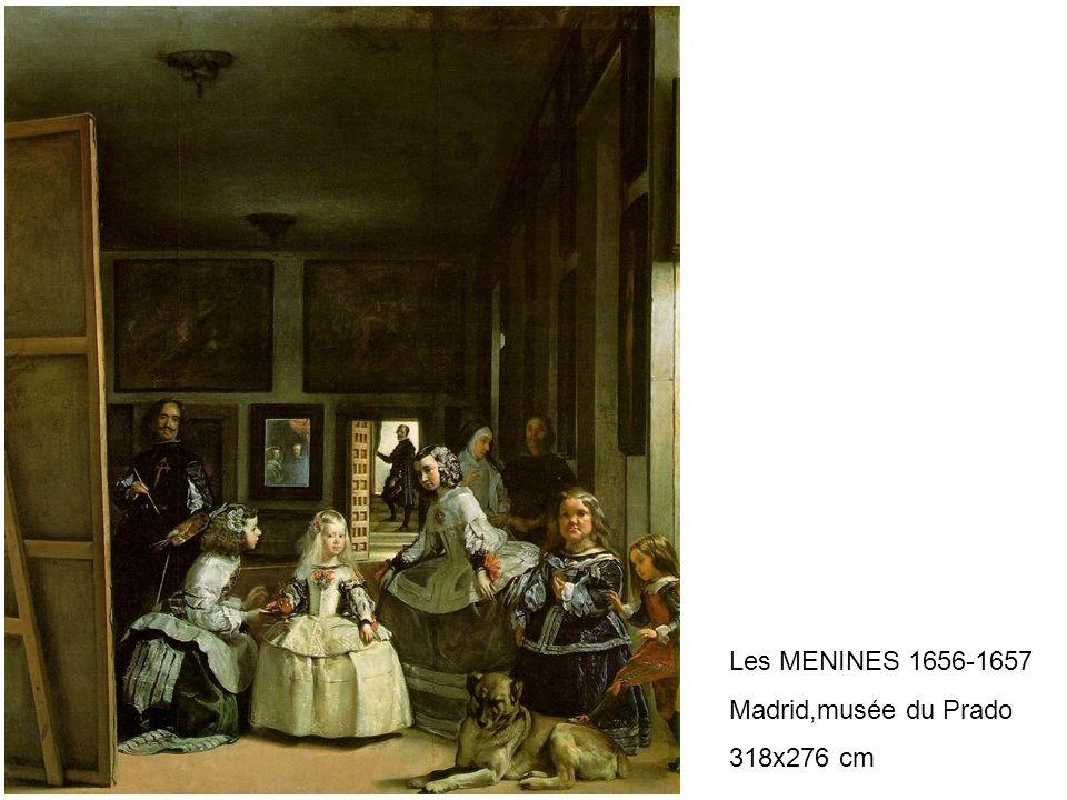 Les MENINES 1656-1657 Madrid,musée du Prado 318x276 cm