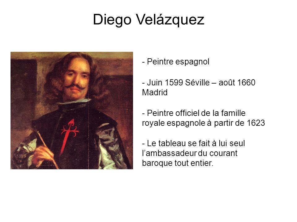 Diego Velázquez - Juin 1599 Séville – août 1660 Madrid - Peintre officiel de la famille royale espagnole à partir de 1623 - Peintre espagnol - Le tabl