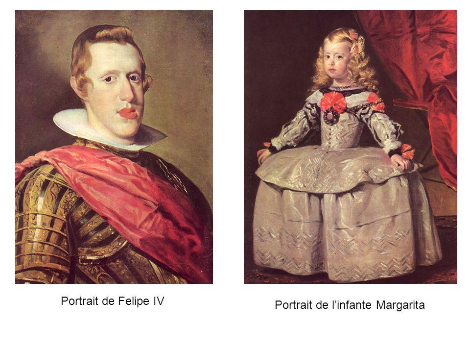 Portrait de linfante Margarita Portrait de Felipe IV