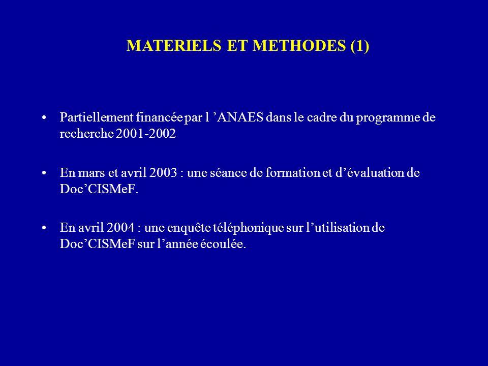Partiellement financée par l ANAES dans le cadre du programme de recherche 2001-2002 En mars et avril 2003 : une séance de formation et dévaluation de