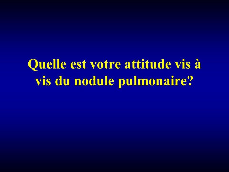 Quelle est votre attitude vis à vis du nodule pulmonaire?