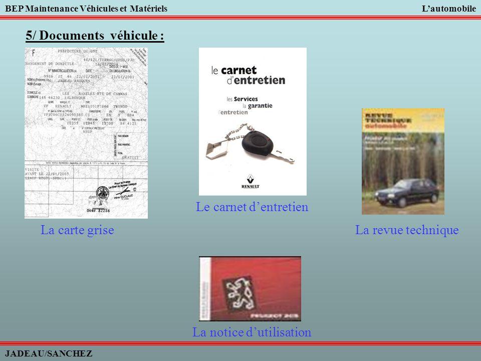 BEP Maintenance Véhicules et MatérielsLautomobile JADEAU/SANCHEZ FIN DE LA SEANCE