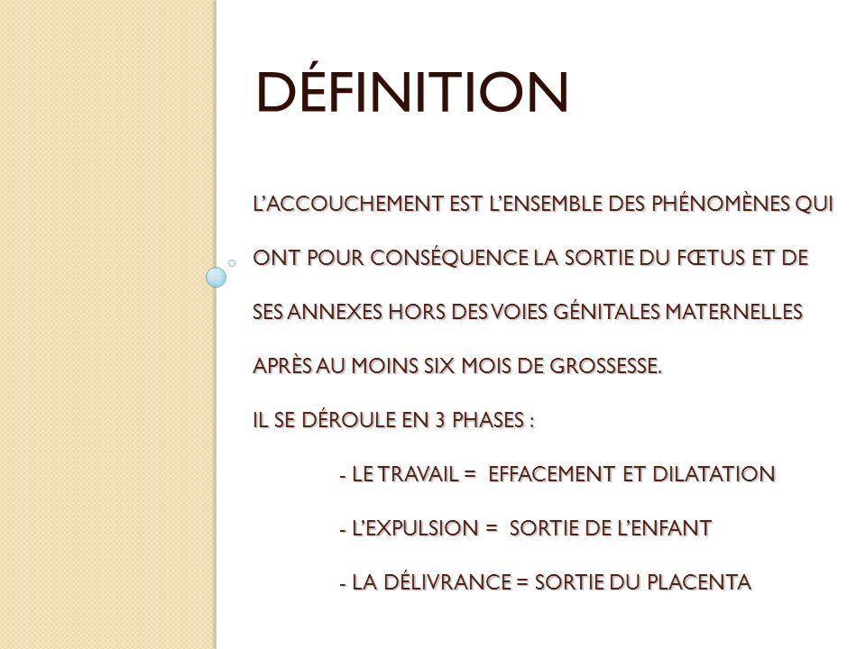 LEPISIOTOMIE Lépisiotomie est une intervention chirurgicale qui consiste à la section dune partie du périnée de la femme au moment de laccouchement afin de réduire le risque de déchirure en facilitant lexpulsion fœtale.