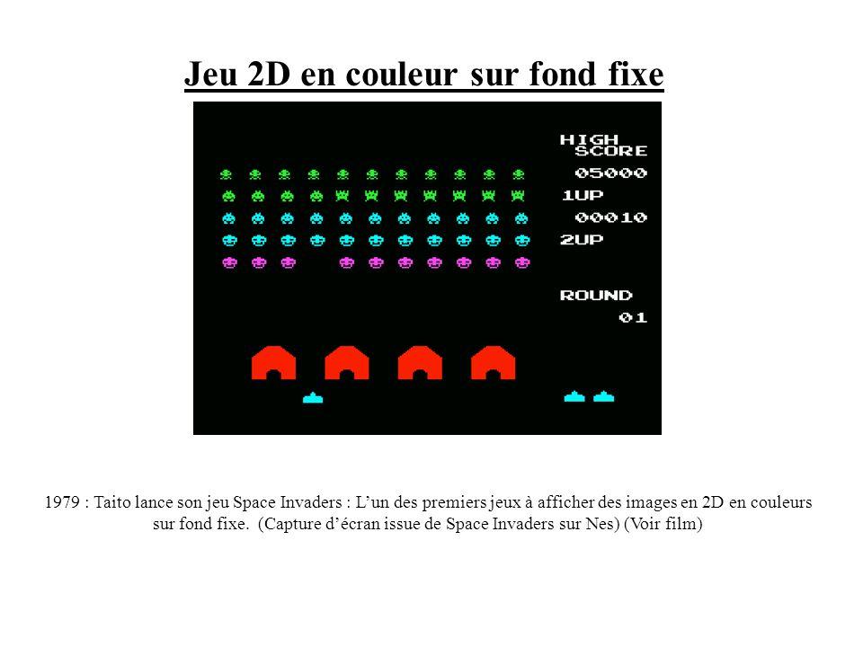 Jeux en 2D noir et blanc 1966 : Création de la 1ère console de jeu vidéo, lancée par Ralph Baer : la Magnavox Odyssey². Il sagissait dune console se b