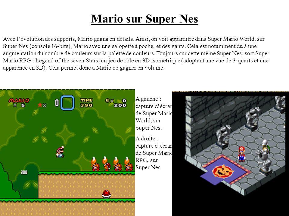 II Evolution artistique. A gauche : Capture décran de Donkey Kong, sur Nes. A droite : Capture décran de Super Mario Bros, sur Nes. 1) Exemple dun hér