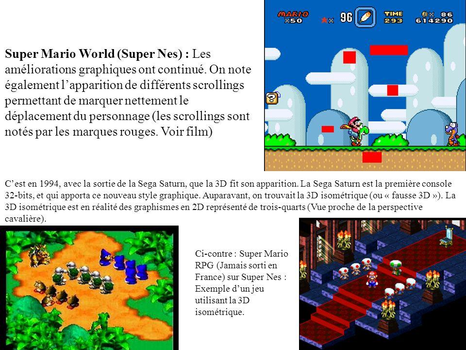 Super Mario Bros (Nes) : Des graphismes beaux pour lépoque mais tout de même assez simplistes Super Mario Bros 2 (Nes) : On note ici une grande amélio