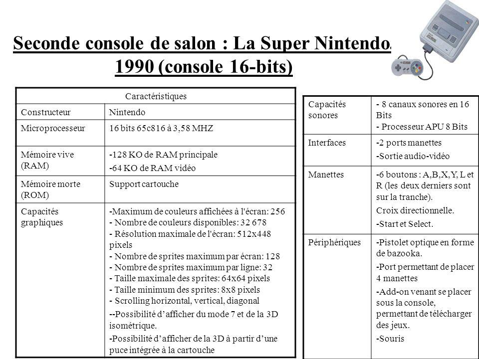 I Une évolution technique et technologique nécessaire. 1) Les supports Première console de salon de Nintendo : la Nes, console 8-Bits (1988) Caractéri