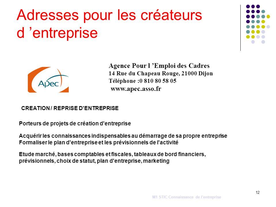 12 CREATION / REPRISE D'ENTREPRISE Porteurs de projets de création d'entreprise Acquérir les connaissances indispensables au démarrage de sa propre en