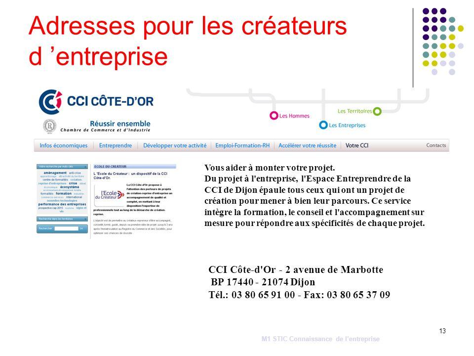 13 Vous aider à monter votre projet. Du projet à l'entreprise, l'Espace Entreprendre de la CCI de Dijon épaule tous ceux qui ont un projet de création