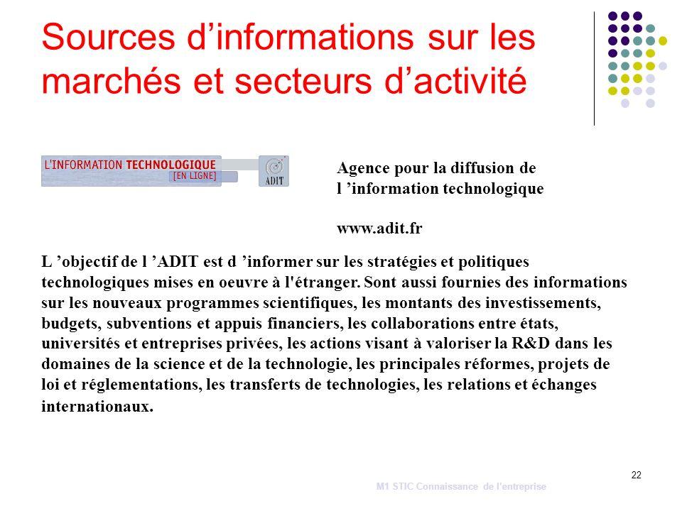 22 L objectif de l ADIT est d informer sur les stratégies et politiques technologiques mises en oeuvre à l'étranger. Sont aussi fournies des informati