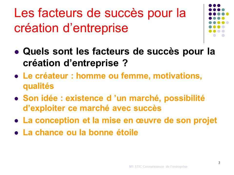 3 Les facteurs de succès pour la création dentreprise Quels sont les facteurs de succès pour la création dentreprise ? Le créateur : homme ou femme, m